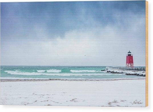Freezing Storm Wood Print