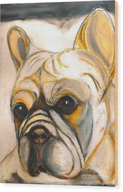French Bulldog Drawing Wood Print