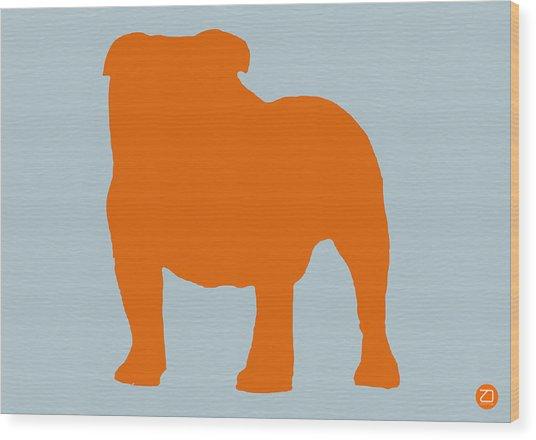 French Bulldog Orange Wood Print