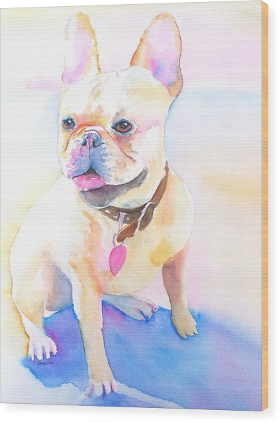 French Bulldog Watercolor Wood Print