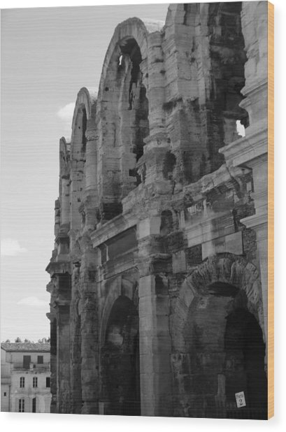 French Colosseum Wood Print by Noelle  Kimberley