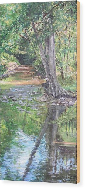 French Creek Wood Print by Denise Ivey Telep
