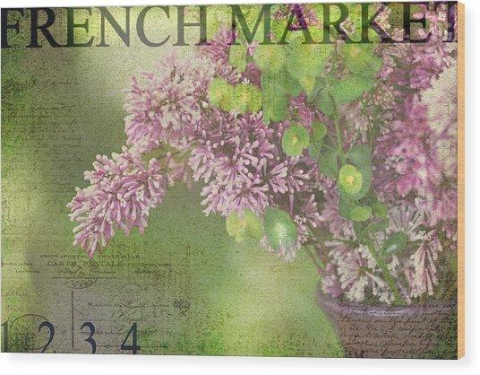 French Market Series M Wood Print
