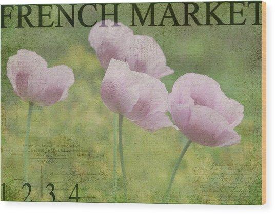French Market Series P Wood Print
