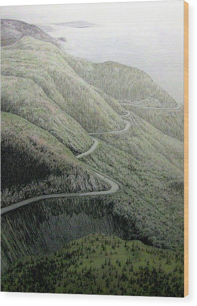 French Mountain At 400 Metres Wood Print by Roger Beaudry