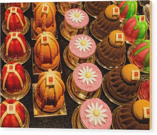 French Pastries In Lyon Wood Print