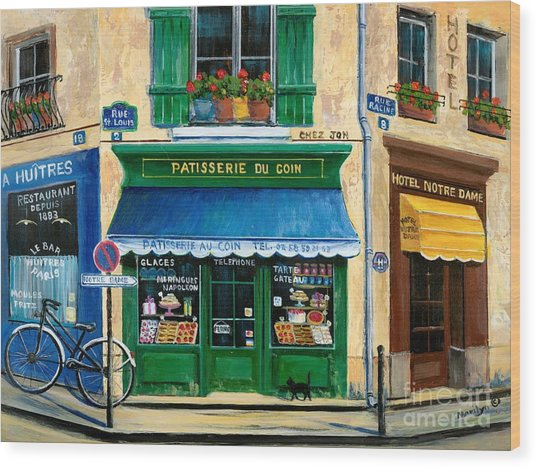 French Pastry Shop Wood Print