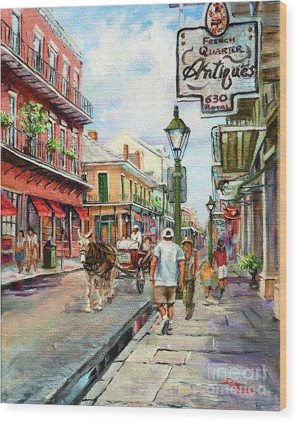 French Quarter Antiques Wood Print