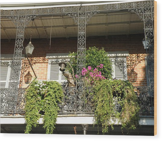 French Quarter Balcony Wood Print by Jack Herrington