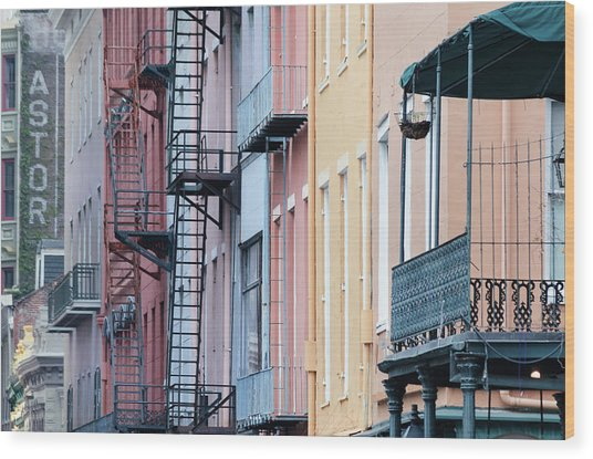French Quarter Colors Wood Print