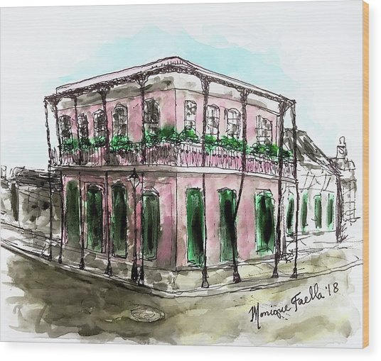 French Quarter Wood Print