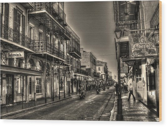 French Quarter Ride Wood Print