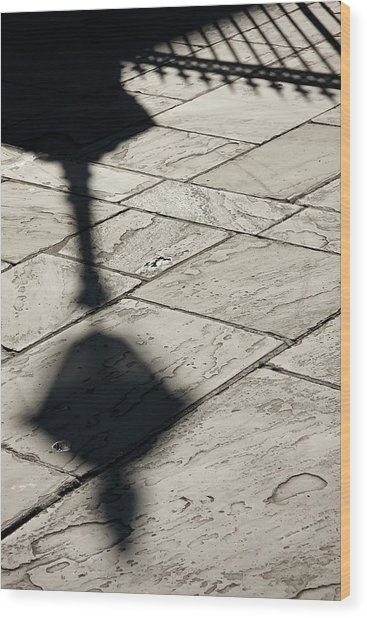 French Quarter Shadow Wood Print