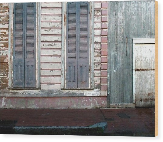 French Quarter Wood Print