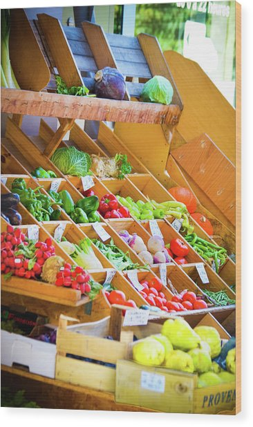 French Vegetable Market 2 Wood Print