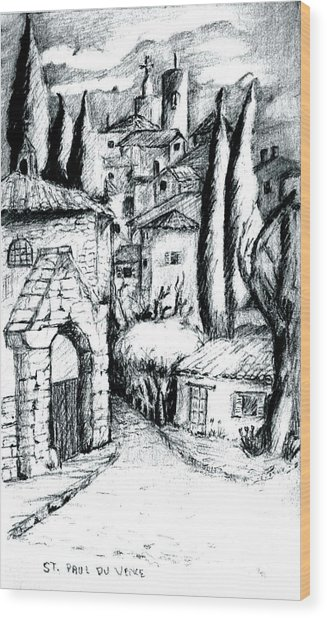 French Village Wood Print by Dan Earle
