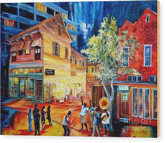 Frenchmen Street Funk Wood Print