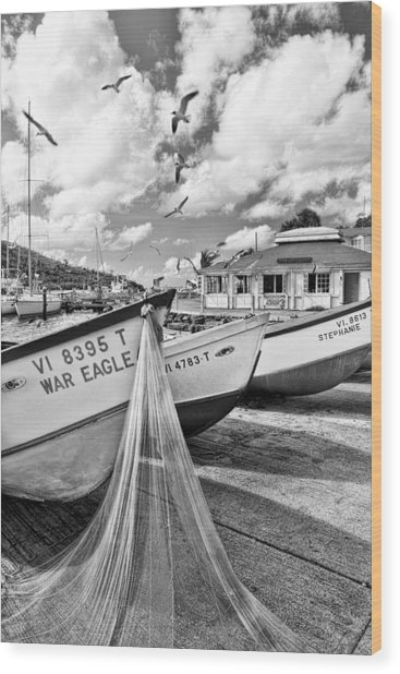 Frenchtown Fishing Boats 1 Wood Print