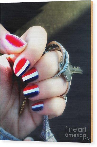 Frenchy Nails Wood Print