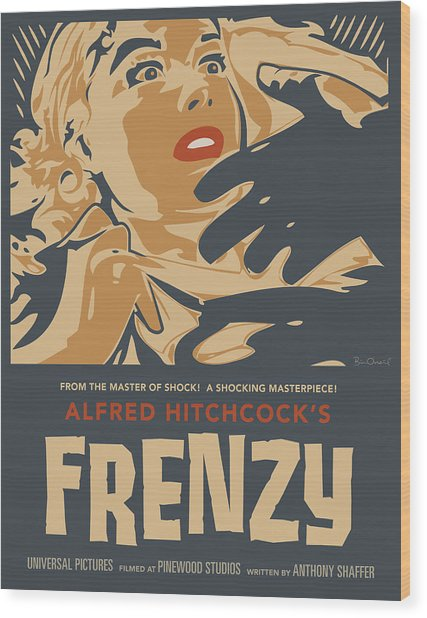 Frenzy - Thriller Noir Wood Print by Bill ONeil
