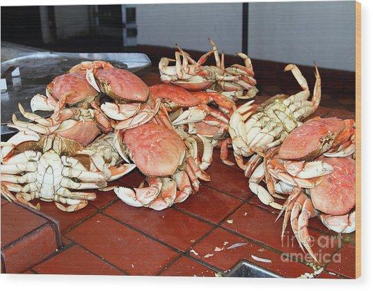 Fresh Cooked Crabs At Fishermans Wharf San Francisco California 7d14459 Wood Print