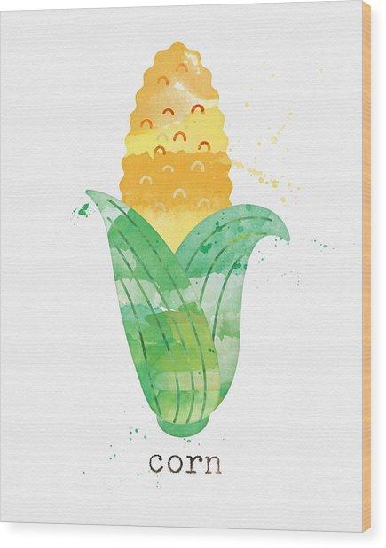 Fresh Corn Wood Print