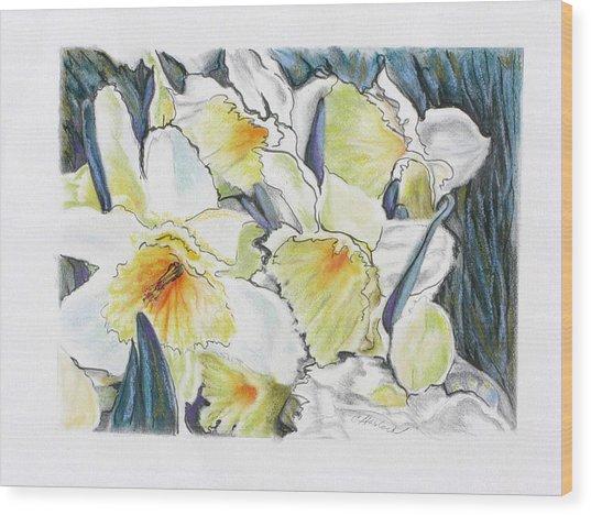 Fresh Faces Wood Print by Carole Haslock