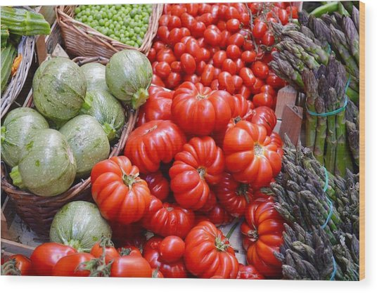 Fresh Vegetables Wood Print