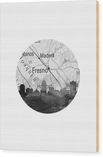 Fresno California 11rd Wood Print