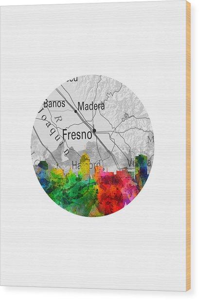 Fresno California 12rd Wood Print
