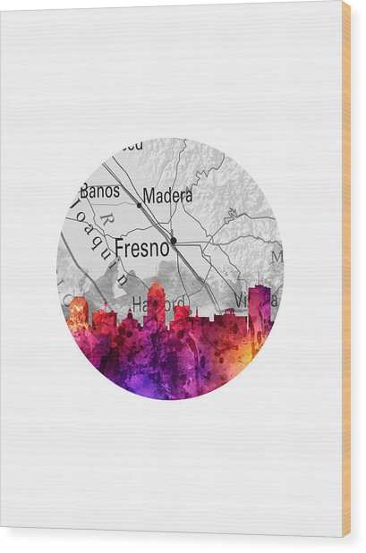 Fresno California 14rd Wood Print