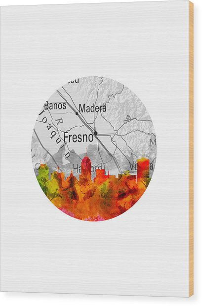 Fresno California 15rd Wood Print