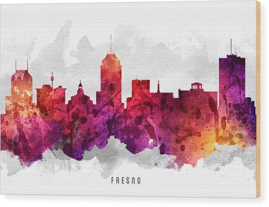 Fresno California Cityscape 14 Wood Print