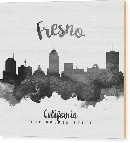 Fresno California Skyline 18 Wood Print