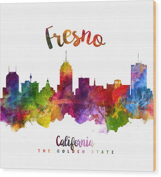 Fresno California Skyline 23 Wood Print
