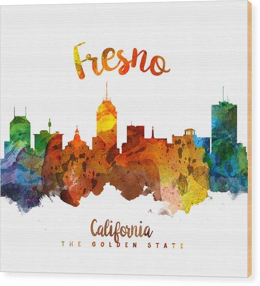 Fresno California Skyline 26 Wood Print