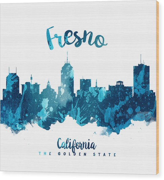 Fresno California Skyline 27 Wood Print