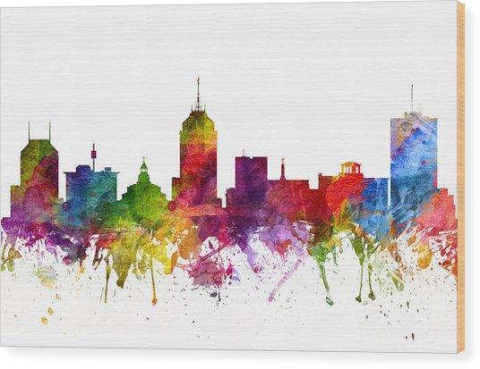 Fresno Cityscape 06 Wood Print
