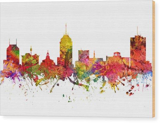 Fresno Cityscape 08 Wood Print