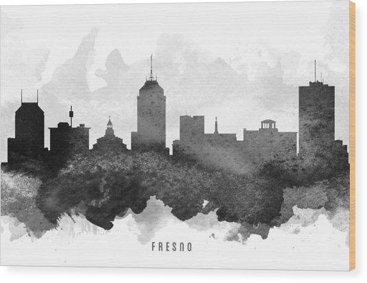 Fresno Cityscape 11 Wood Print
