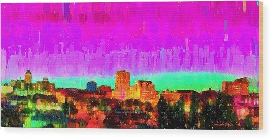 Fresno Skyline 103 - Da Wood Print