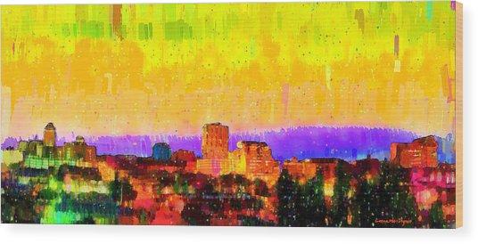 Fresno Skyline 106 - Pa Wood Print
