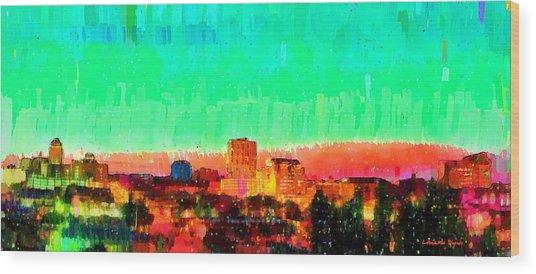 Fresno Skyline 108 - Da Wood Print