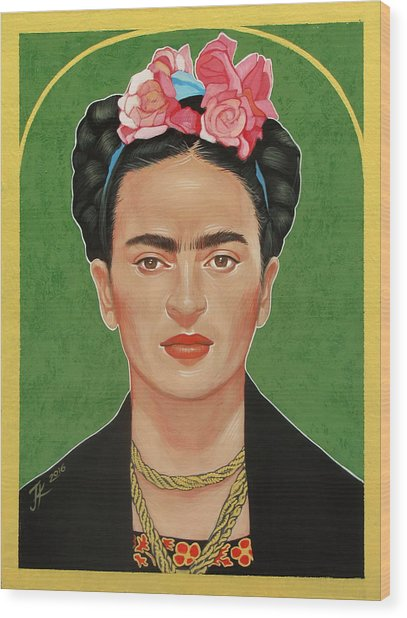 Frida Kahlo Wood Print by Jovana Kolic
