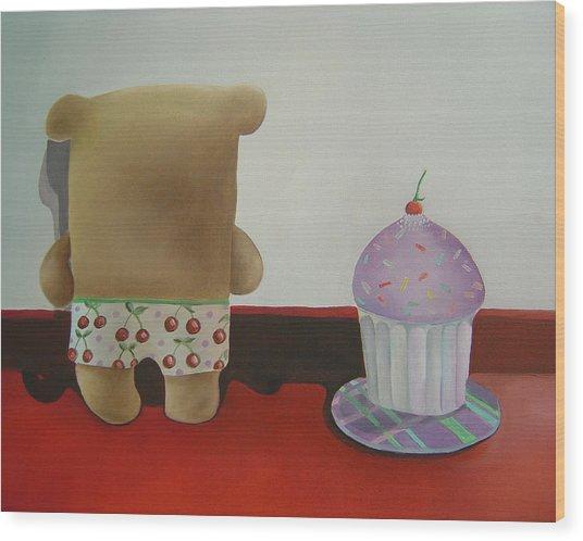 Friends 2 Wood Print by Anastassia Neislotova