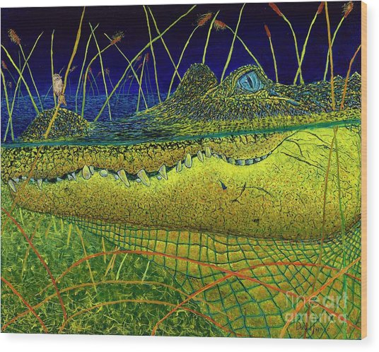 Swamp Gathering Wood Print