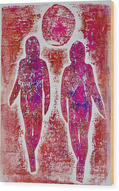 Friends In Pink  Wood Print