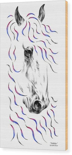 Friesian Horse Nobility Wood Print