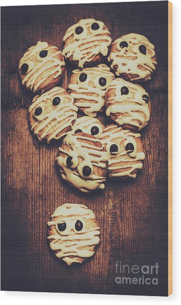 Fright Night Party Baking Wood Print