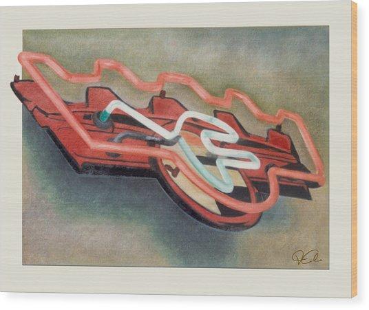 Frigidaire Wood Print by Van Cordle